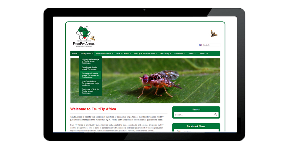 FruitFly Africa website